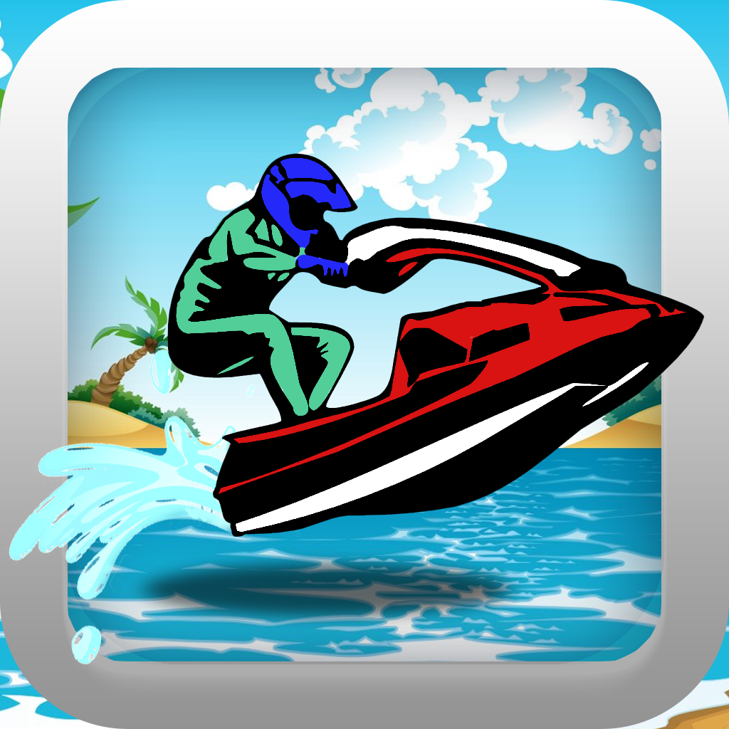 Turbo Jet Ski Water Racing Pro - Ultimate Speed Boat Race Free Game icon