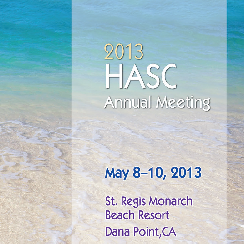 2013 HASC Annual Meeting