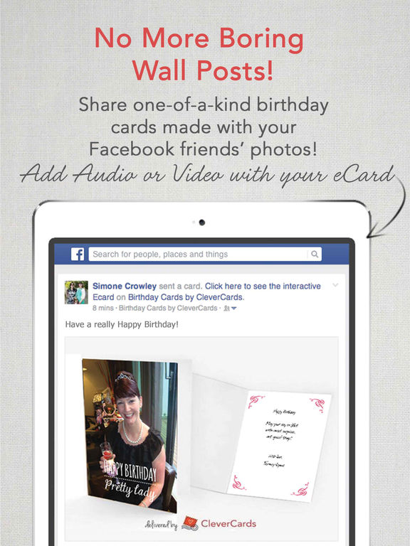 Clevercards Best Printed Photo Birthday Cards And Free