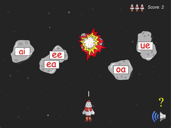 Long Vowel Rocket Game Screenshots
