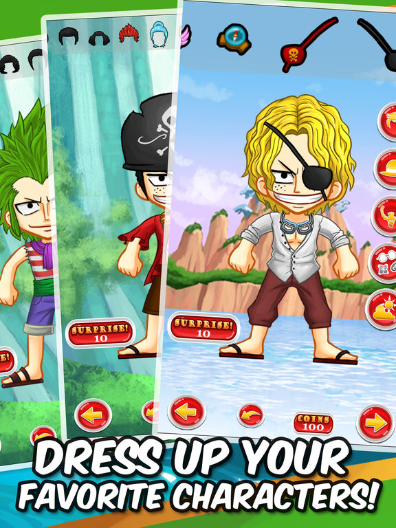 Luffy Manga Dress-Up Games - Anime Characters Creator One