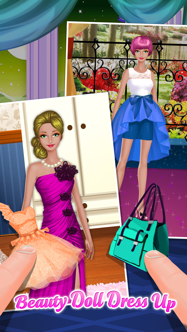 Virtual dress up teens girls dolls