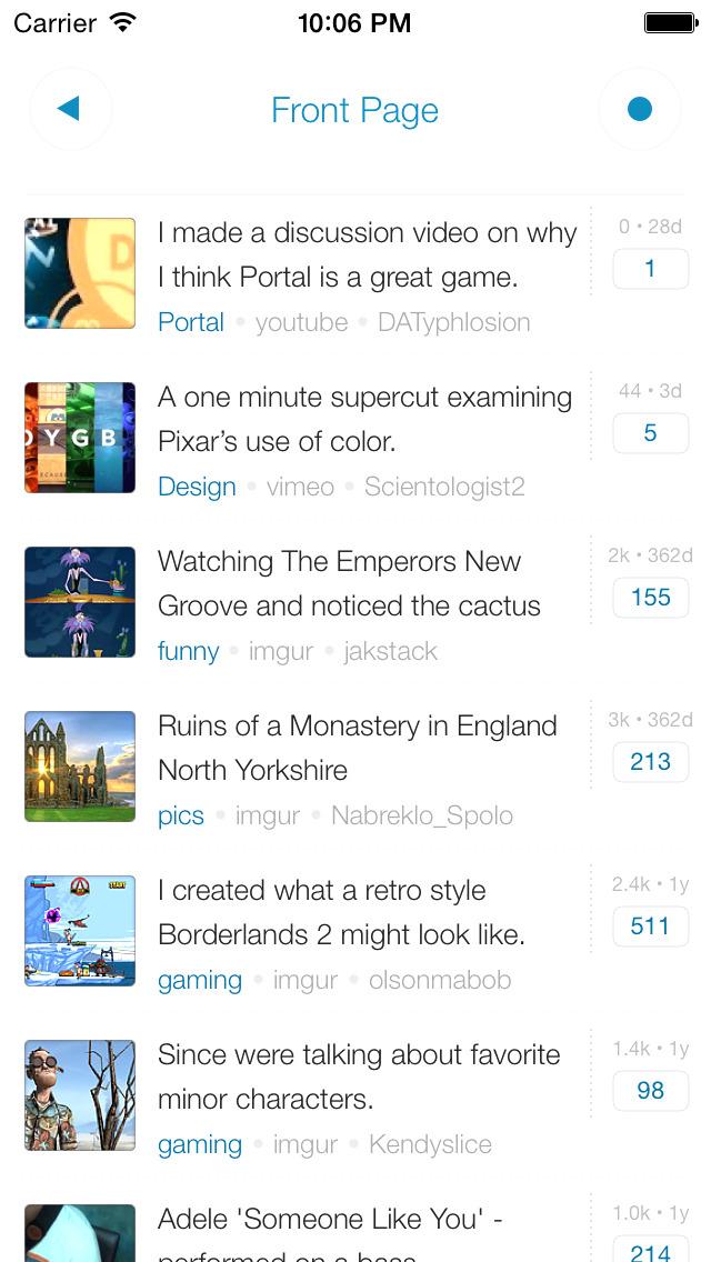 Alien Blue - reddit official client Screenshot on iOS