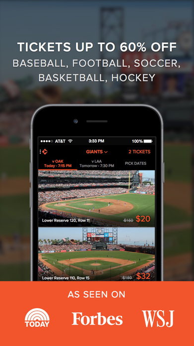 Gametime · Tickets to Sports, Concerts, & Theater Screenshot