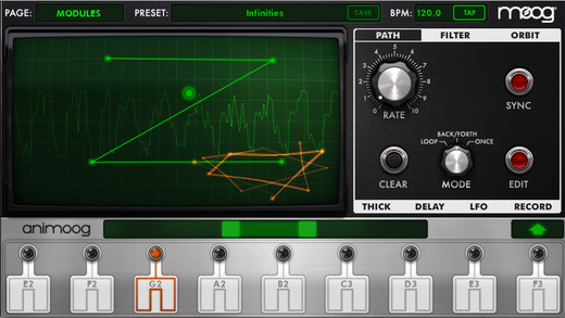 Animoog for iPhone Screenshot