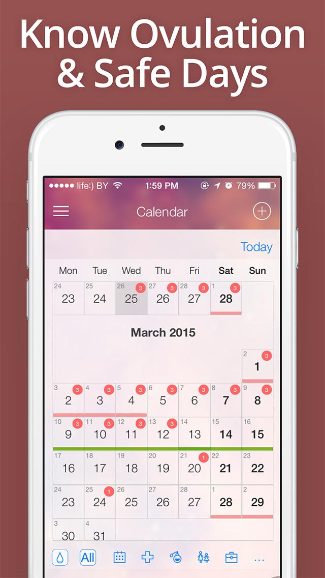 Free menstrual cycle calendar and due-date calculator. Fertility.
