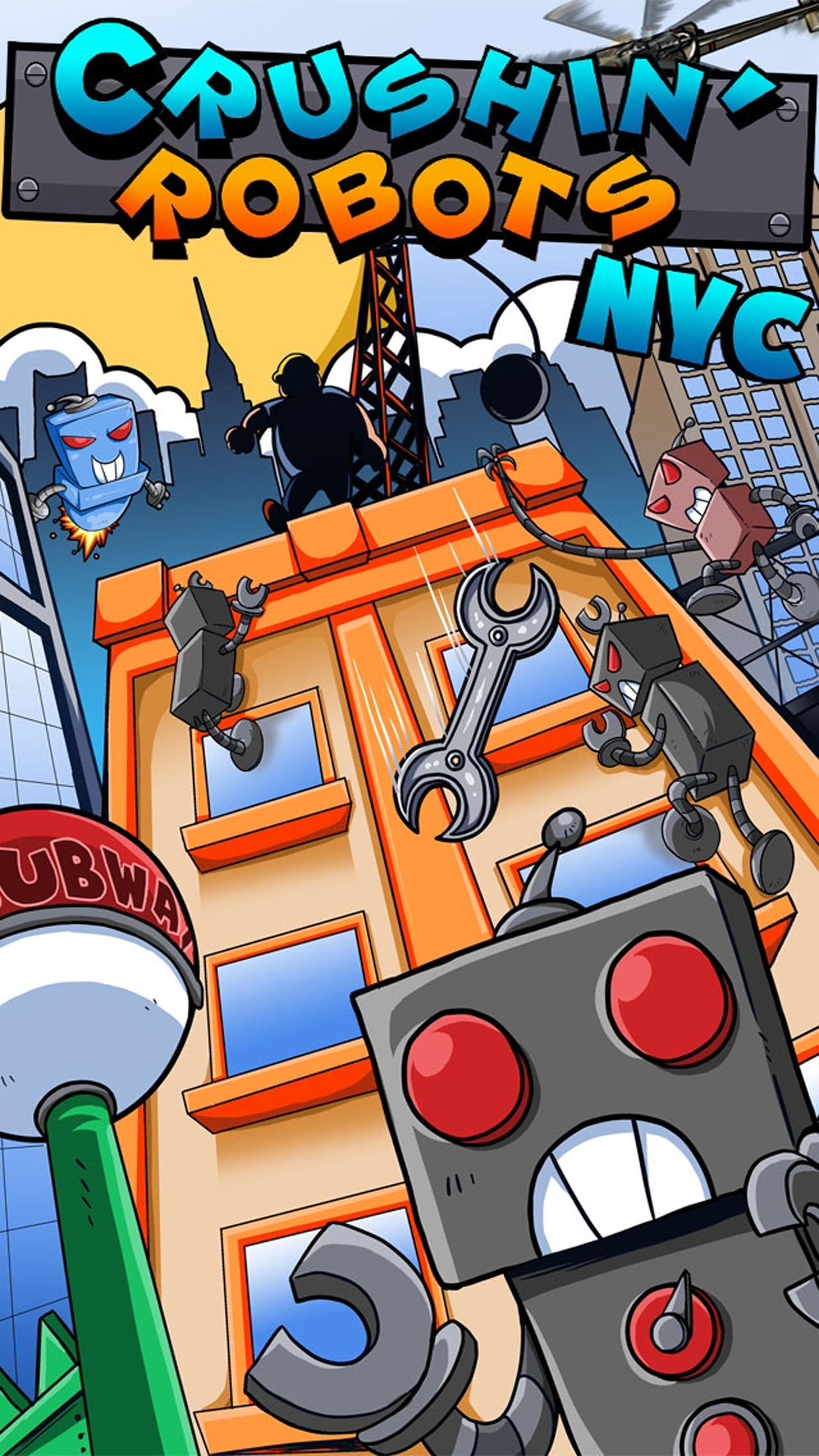 Crushin' Robots NYC - Robot City Defense! screenshot-4