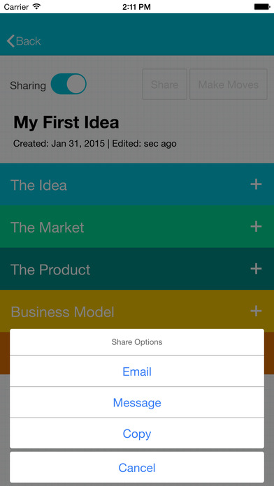 Elevatr - The Business Idea App for Entrepreneurs Screenshot