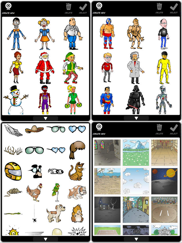 ipad app for writing and drawing a daily comic strip