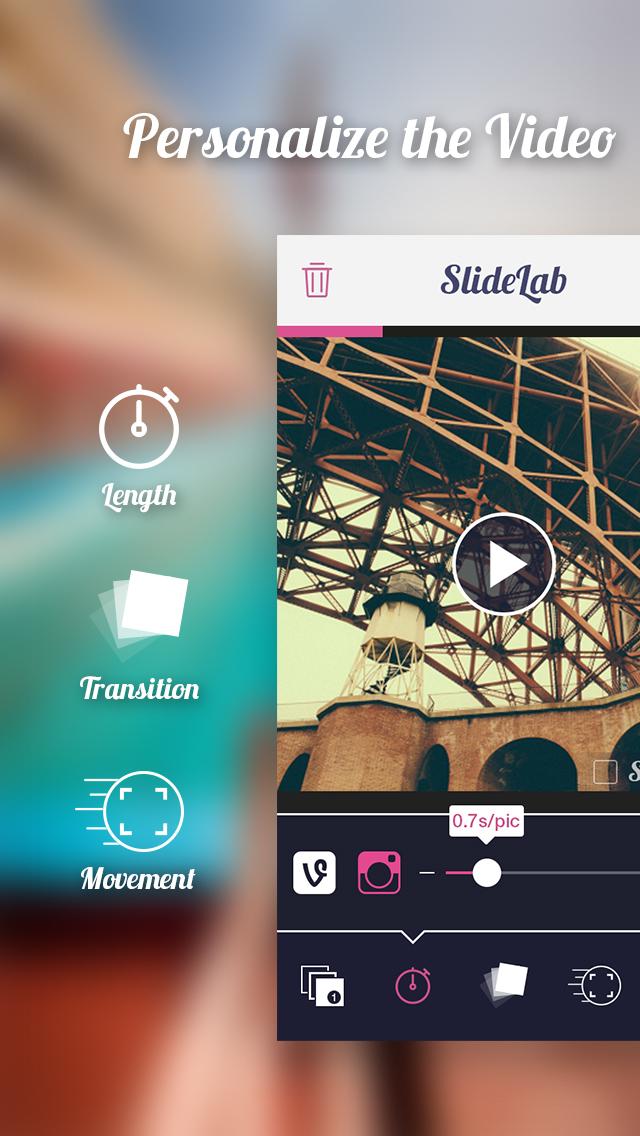 Download SlideLab for Instagram - Add Music to Photos Make