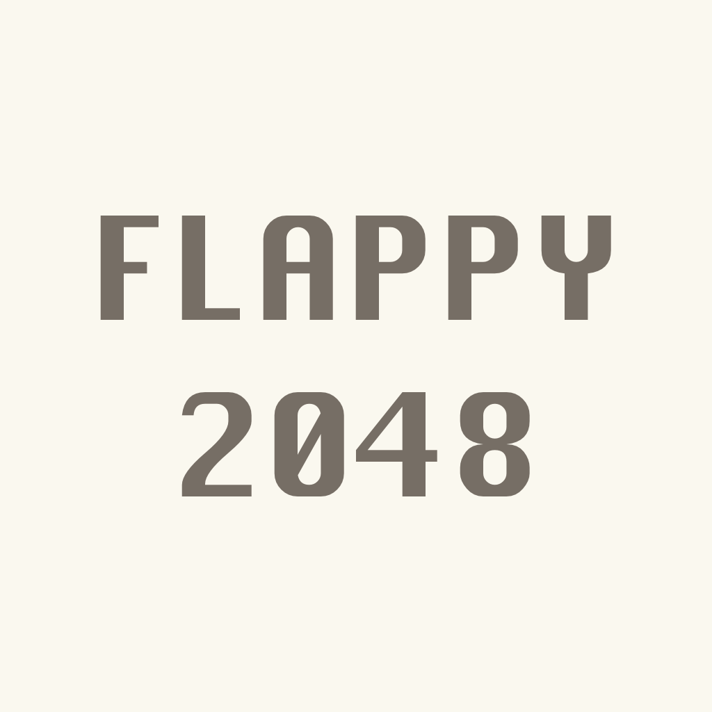 Flappy 2048 : Fly to 2048 and don't touch any white tile.
