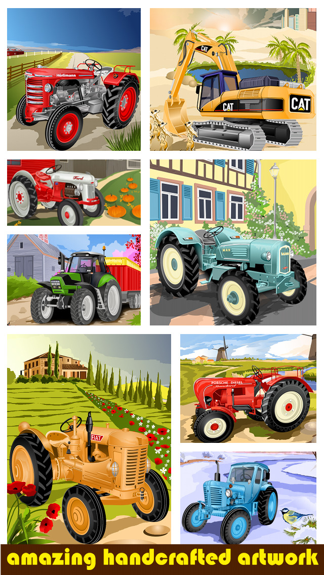 Tractor Jigsaw Puzzle Games for Kids for Free Screenshot on iOS