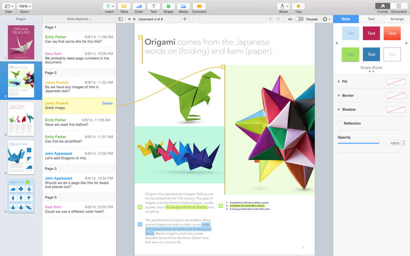 Download Pages 5.6.1 For Mac OS X Free Cracked