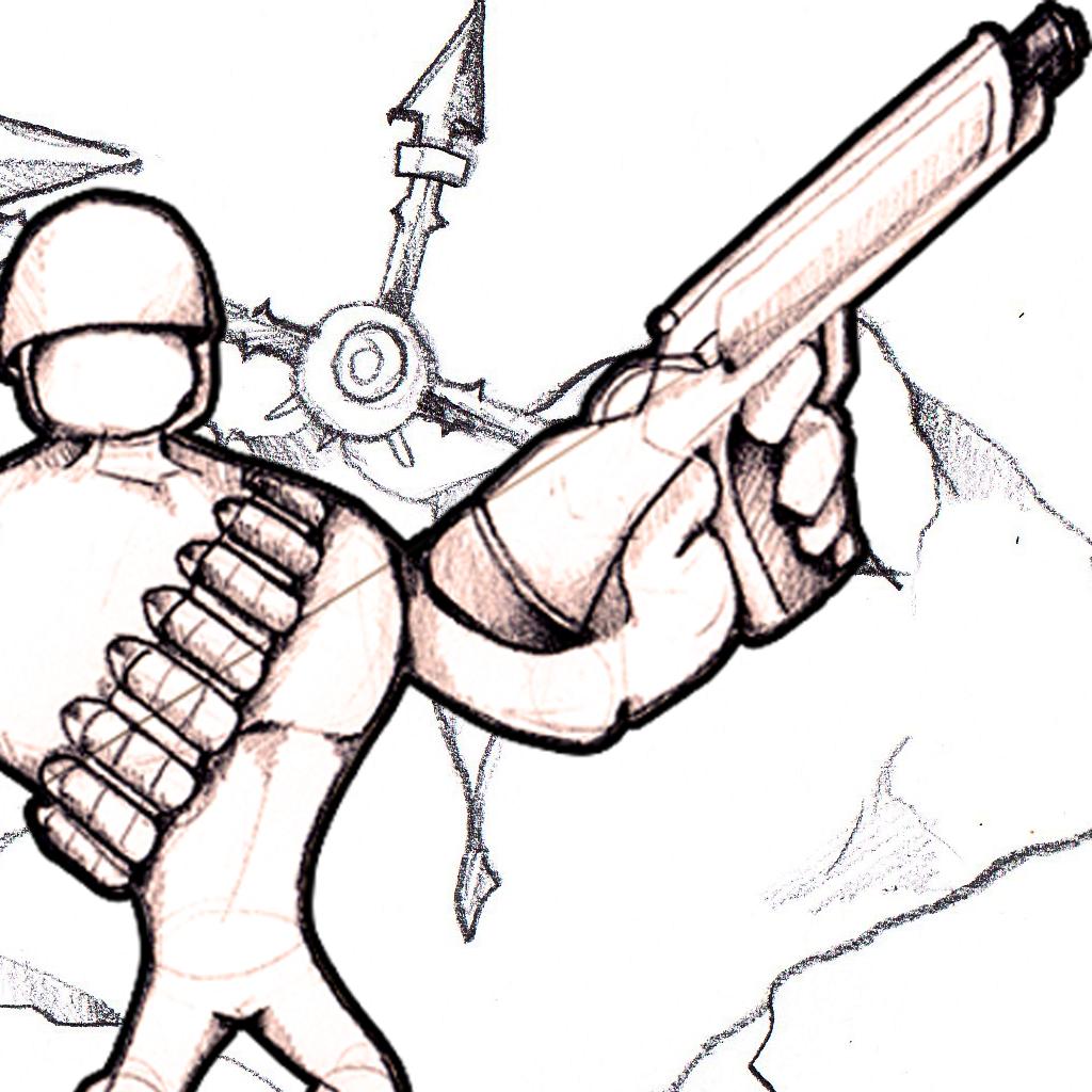 Insane Sketch War - Army Doodle Tanks vs Stickman Military