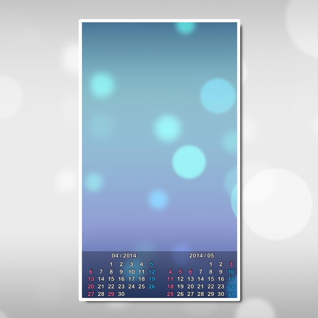 a チラ見せカレンダー壁紙 Iphone最新人気アプリランキング Ios App