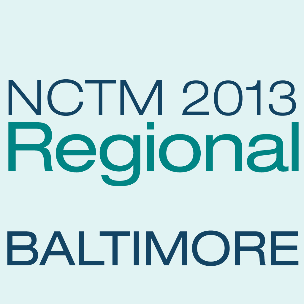 NCTM 2013 Baltimore App