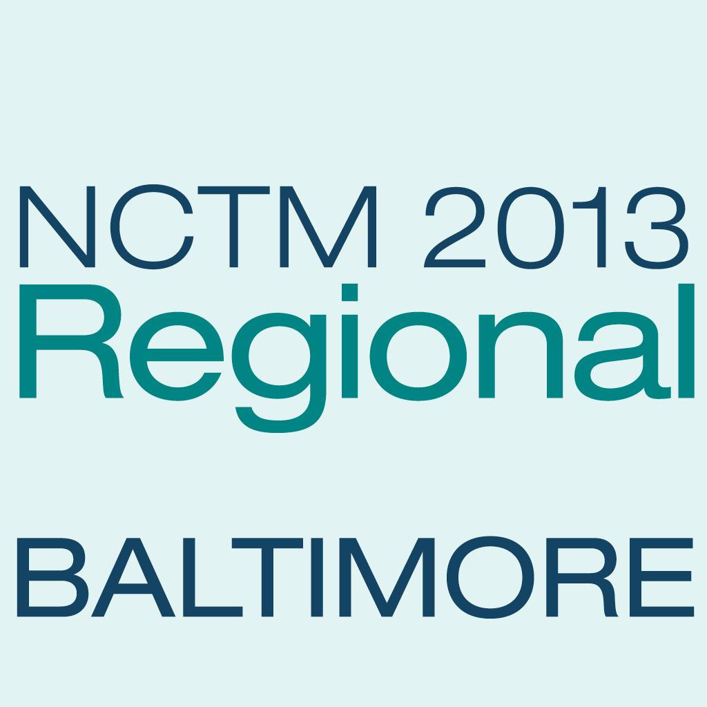 NCTM 2013 Baltimore App