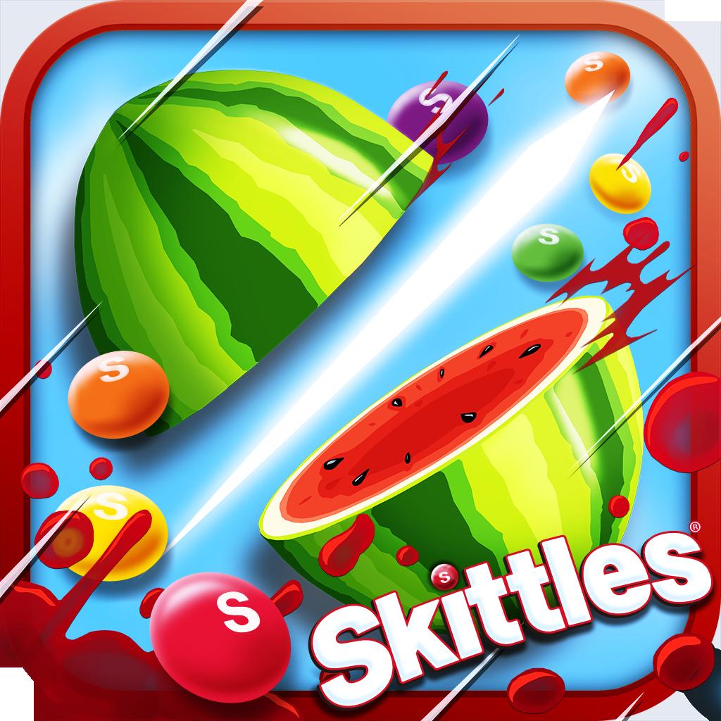 fruit ninja vs skittles by halfbrick