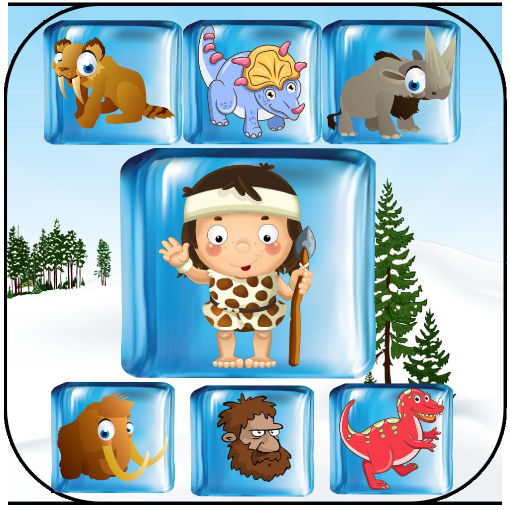 Prehistoric Caveman Ice Age Drop