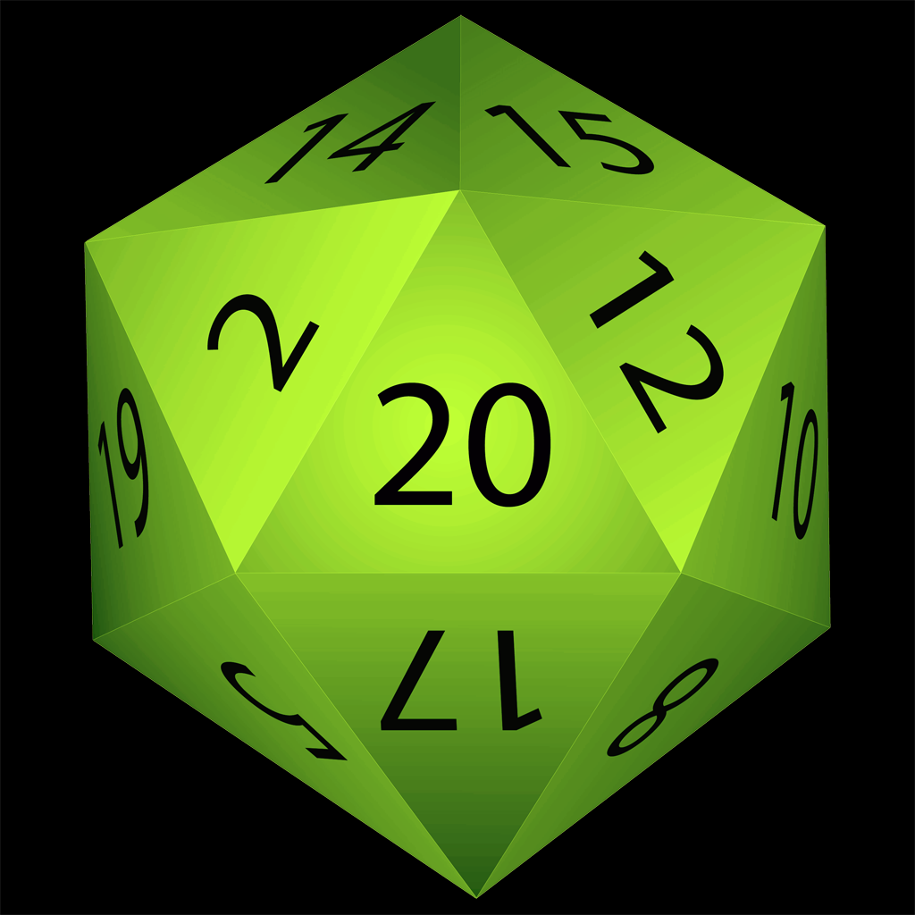 Natural 20 - for Rolling Dice