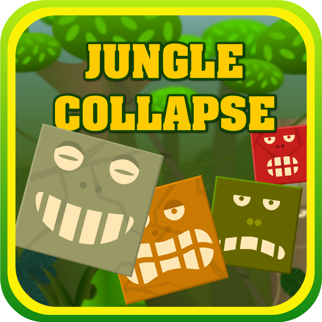 Jungle Collapse - Free Swipe & Chain Block Match Mania icon