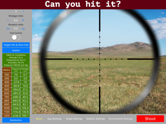 Long range shooting simulation iii download.