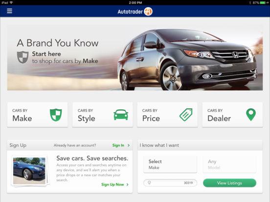 autotrader find new used cars for sale on the app store. Black Bedroom Furniture Sets. Home Design Ideas