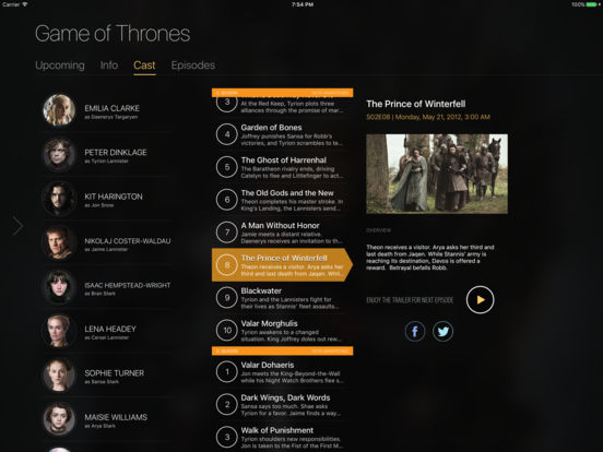 TeeVee 3 - Your TV Shows Guru Screenshot