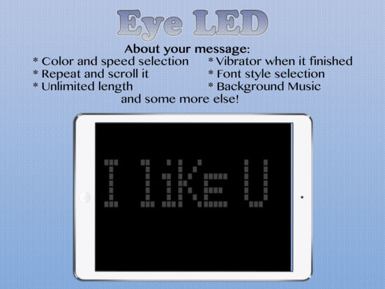 eyeLED - The LED Message Banner App Screenshots