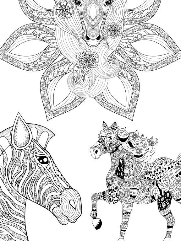 Kleurplaten Quotes App Shopper Mandalas Horses Coloring Pages For Adults