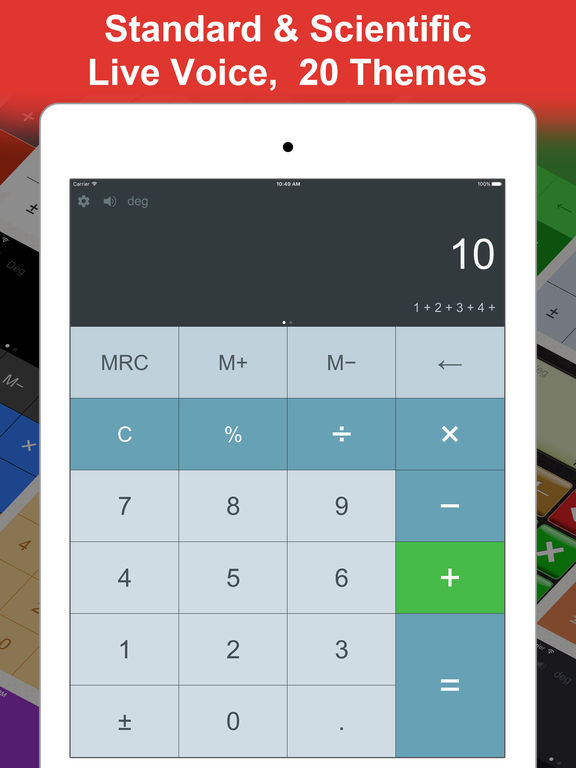 DayCalc Calculator HD Pro - Note Calculator Screenshot