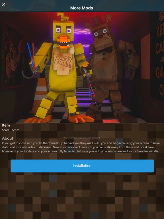 FNAF MODS for Five Nights at Freddys Minecraft PC - Pocket