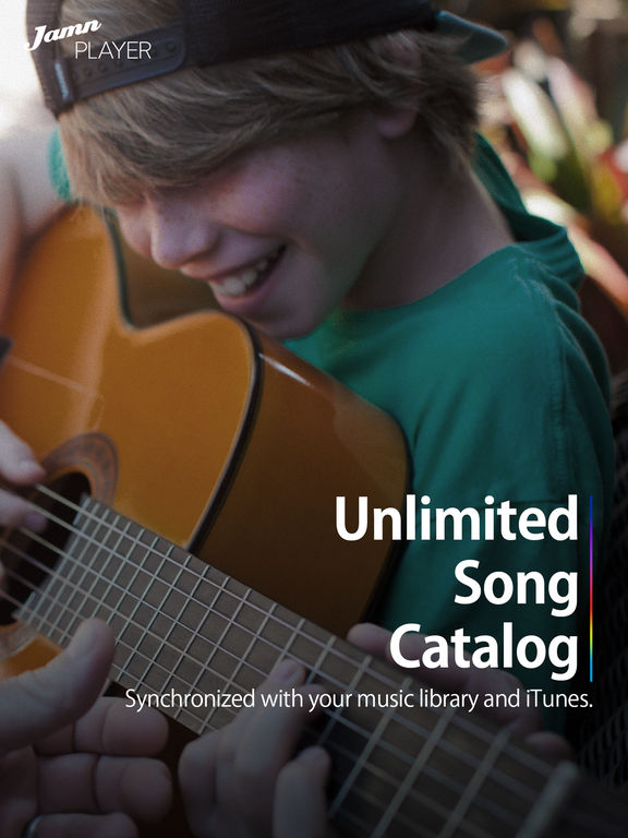 Jamn Player - Unlimited tabs & chords catalog for Guitar, Bass, Piano and Ukulele Screenshot