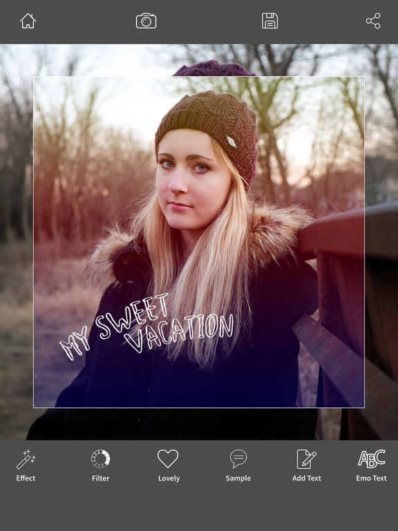 blur effect selfie photo editor edit with effects filter text