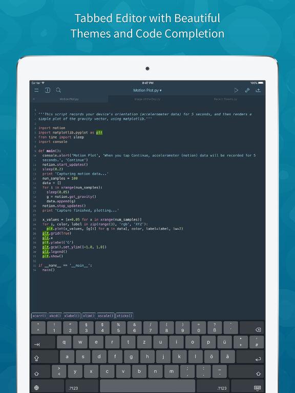 Pythonista Screenshots