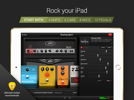 AmpKit+ guitar amps, pedals, tools & effects Screenshot