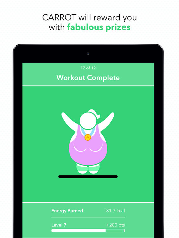 CARROT Fit - 7 Minute Workout & Weight Tracker Screenshot