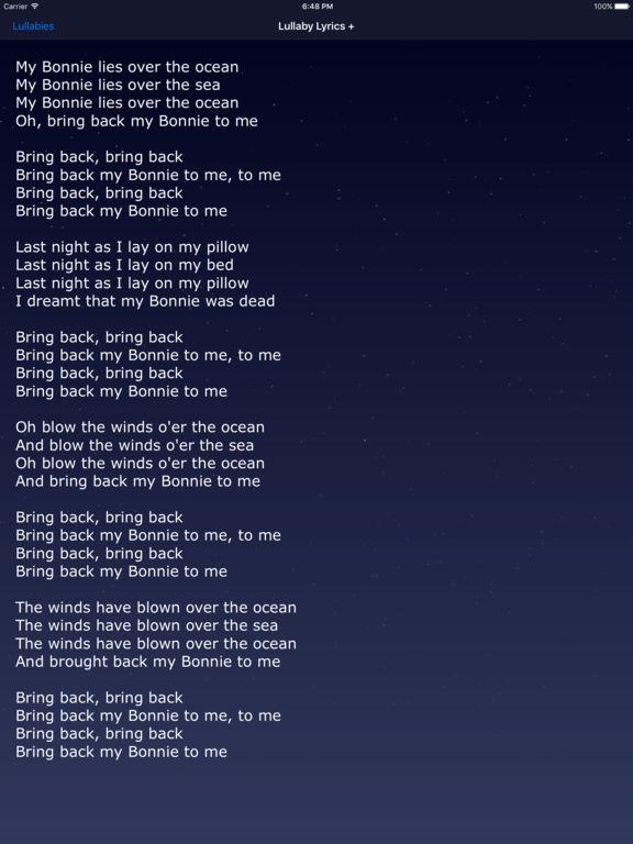 App Shopper Lullaby Lyrics Words To Lullabies Kid Songs Music