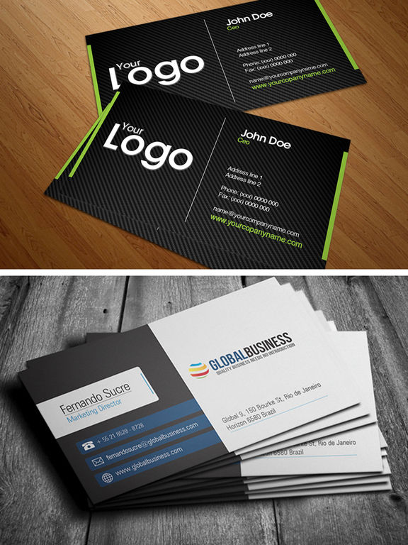 ipad screenshot 3 - Business Cards Design Ideas
