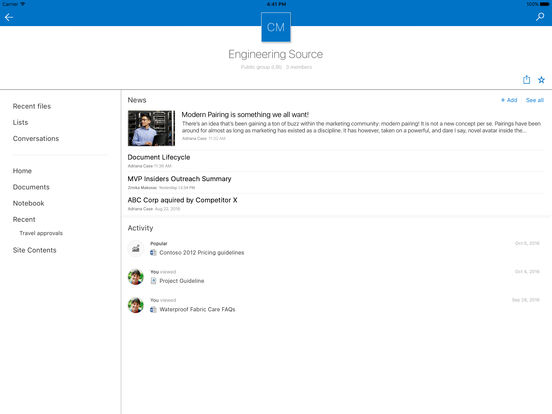 Microsoft SharePoint Screenshot