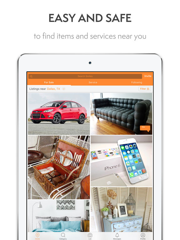 5miles buy and sell stuff classifieds app used cars furniture second hand items for sale. Black Bedroom Furniture Sets. Home Design Ideas