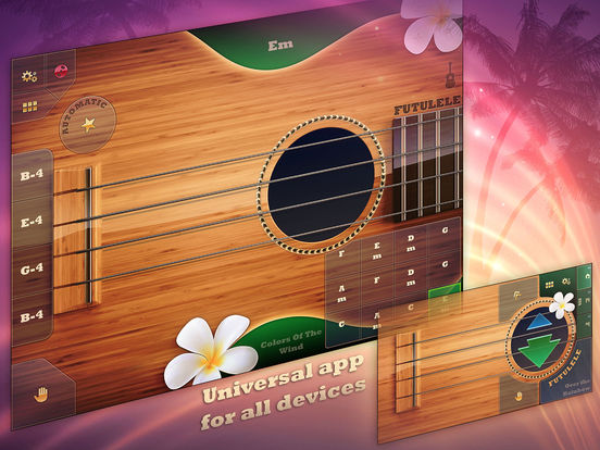 Futulele - Digital Ukulele with FX and chords Screenshot